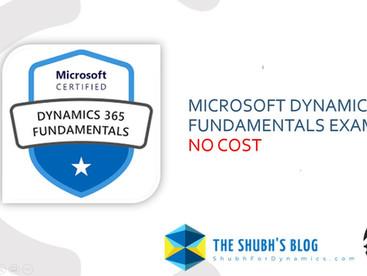Take Microsoft Dynamics 365 Fundamentals Certification Exam (MB-901) at No Cost.