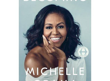Something Funny and a Book by Michelle Obama