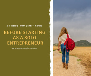 Five things you didn't know before starting up as a solo entrepreneur