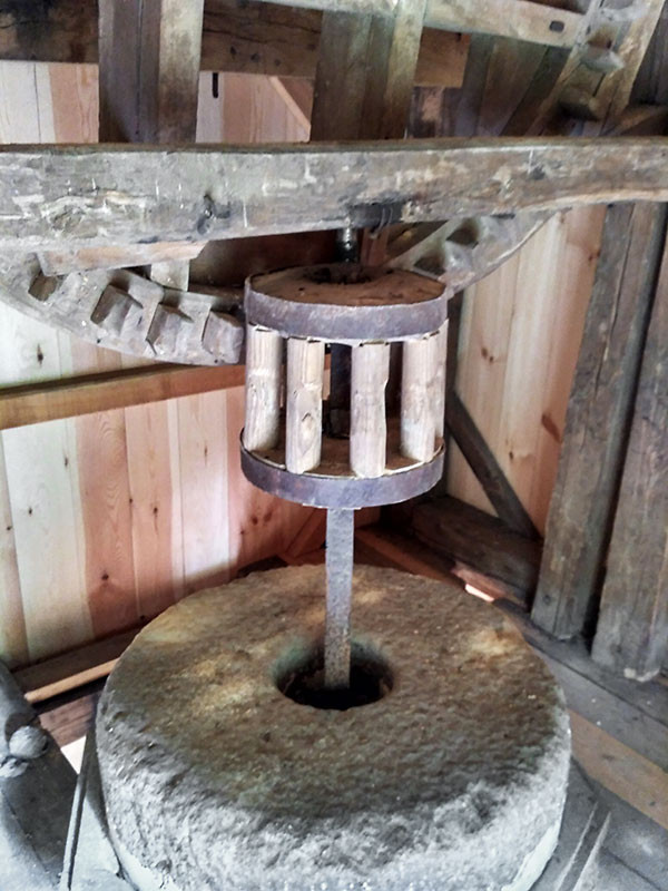 Механизм мельницы Каасику на Сааремаа