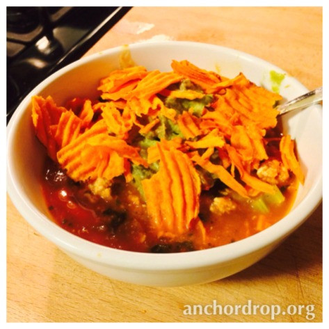 Taco Soup in a bowl