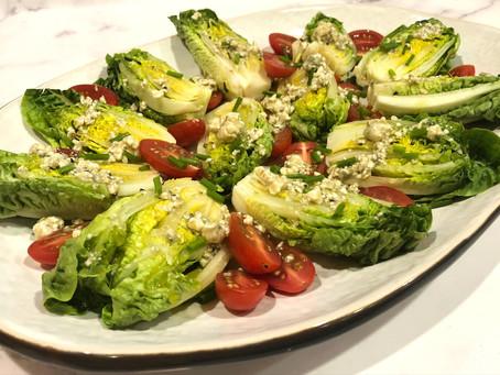 Mini Gem Salad with Gorgonzola Vinaigrette