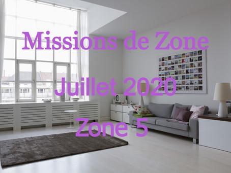 Zones : Missions semaine 31 - Zone 5