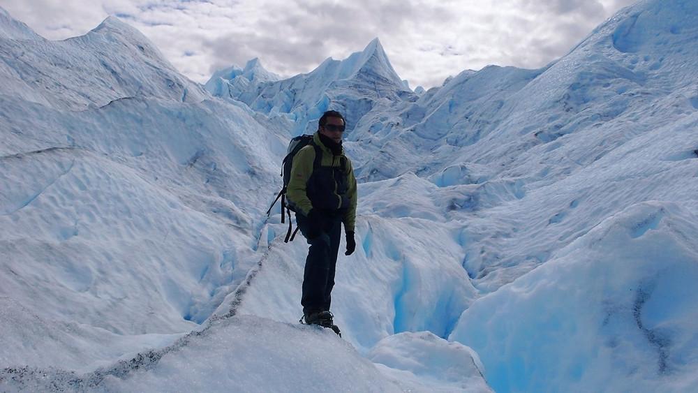 Perito moreno marche sur glacier