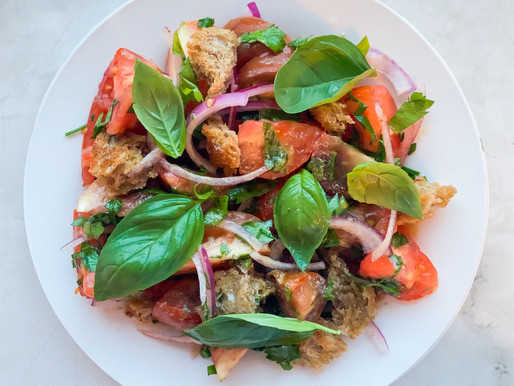 Panzanella with Tomato, White Bean and Anchovy Mustard Dressing