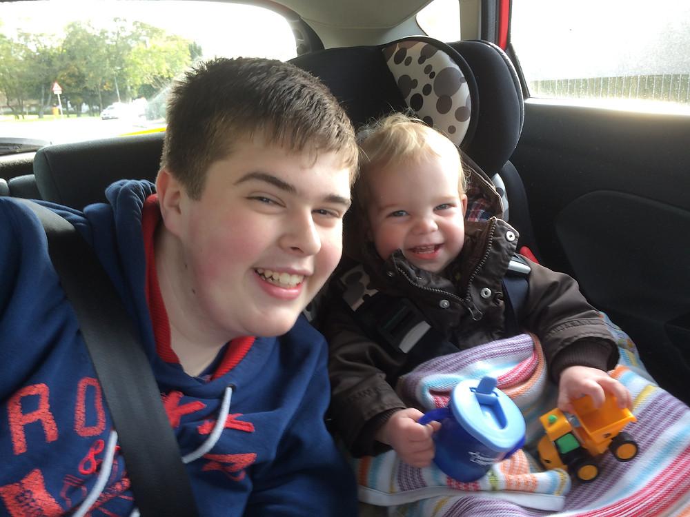 Boys smiling