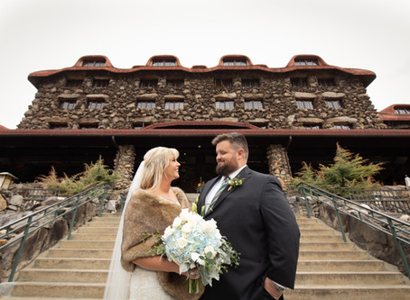 Grove Park Inn Winter Wedding: M + Z