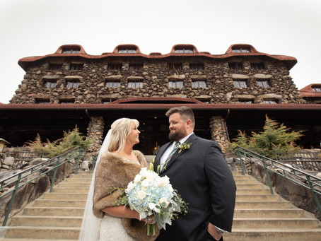 Grove Park Inn Winter Wedding: M + Z