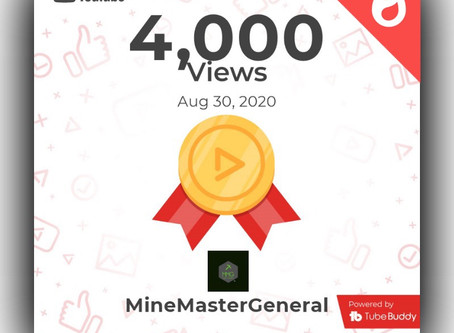 4,000 Views on YouTube!!!