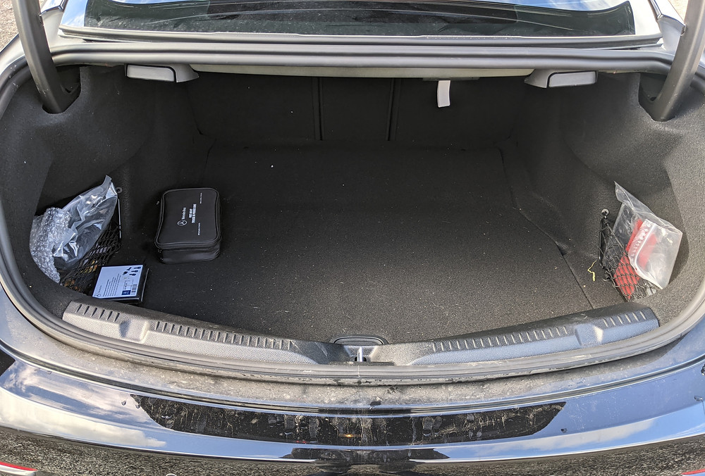 Mercedes E Class Coupe Trunk Space