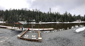 Thanks for the update ice is out of Ash River, generally 7-14 days after ash river opens Kab will open as well!
