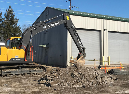 Digging Footers for Future: Highway to Expand Lock Haven Branch