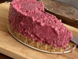 Himbeer-Kokos-Kuchen (rohvegan)