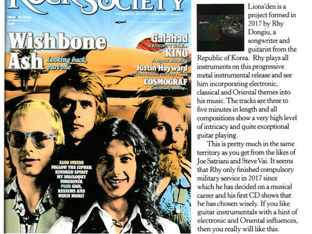 Classic Rock Society reviewed the album, Lions'den - Songbird