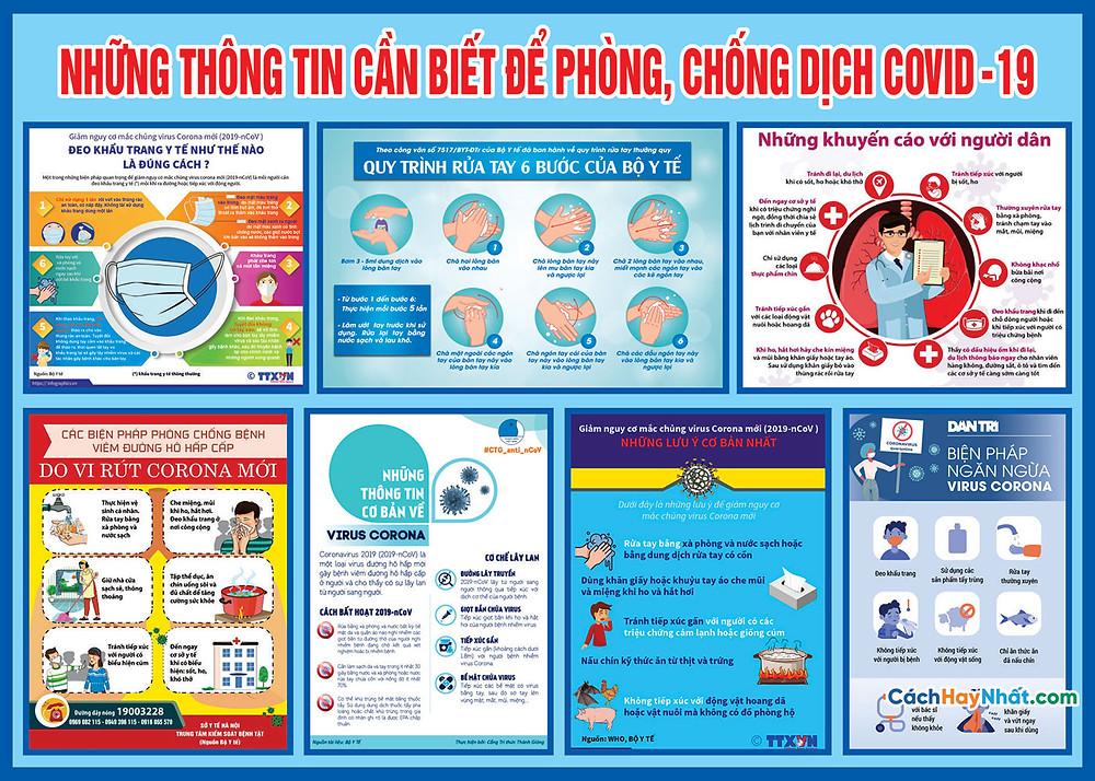 Tờ Rơi, Poster, Pano COVID-19 File Vector Corel 07