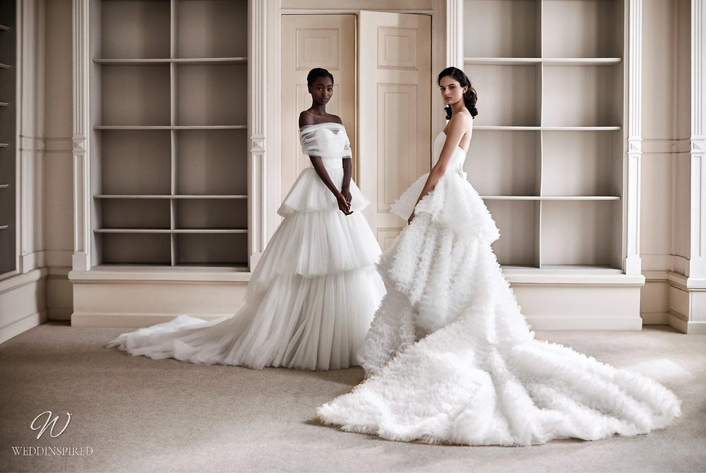 A Viktor & Rolf 2021 princess ball gown wedding dresses with tulle ruffle skirts