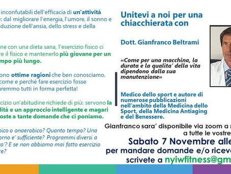 Incontro con Gianfranco Beltrami, medico sportivo