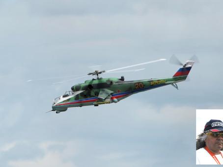 Ми-24 - визитная карточка армейской авиации в тульском небе.