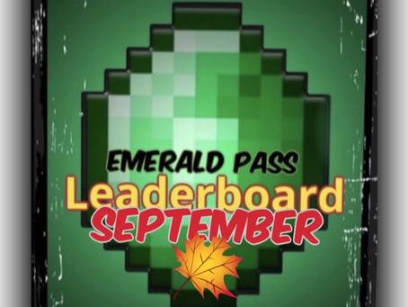 "MMG ""Emerald"" Leaderboard UPDATE (September FINAL)"