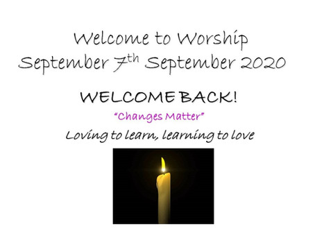 Collective Worship - Monday 7th September 2020