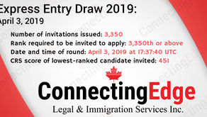 Latest Express Entry draw April, 2019 - ConnectingEdge Immigration