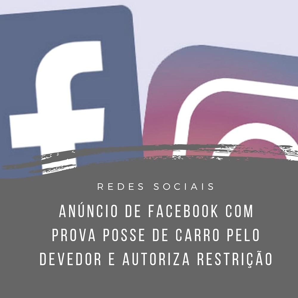 devedor ocultação de patrimônio rede social facebook carro posse localização de bem