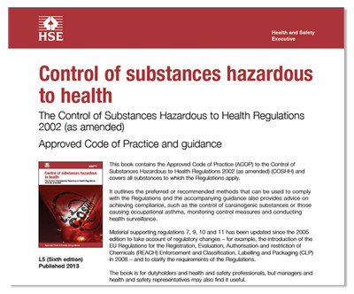 Image of cover COSHH Regulations 2002