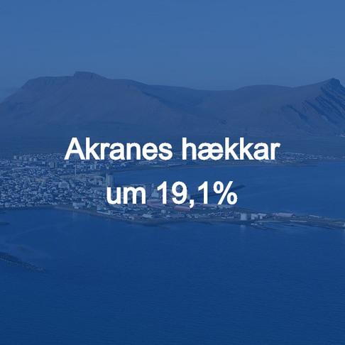 Fasteignamat - Akranes hækkar um 19,1%