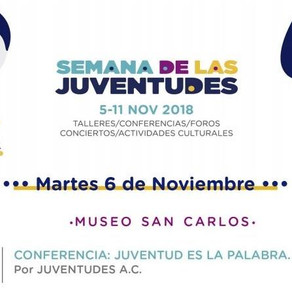 """Evento """"JuventudEs a la Palabra"""" en Semana de las Juventudes 2018."""