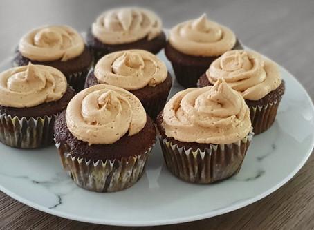 Vegan Coffee and Cinnamon Cupcakes