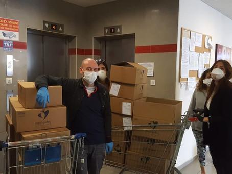 Yahel Organizes Food Distribution to Seniors in Haifa