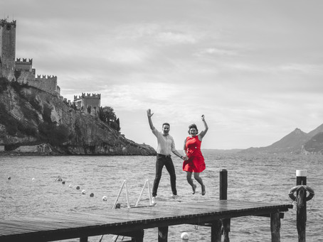 Anniversary photoshoot in Malcesine