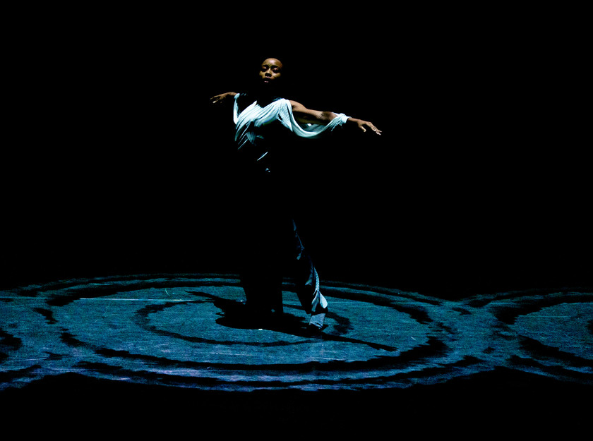Alethia Antonia, of the Russell Maliphant Company, in the award-winning choreographer's new work, Silent Lines, at The Lowry.