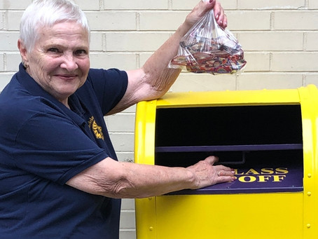 Lions Install New Eyeglass Donation Box in Kings Court