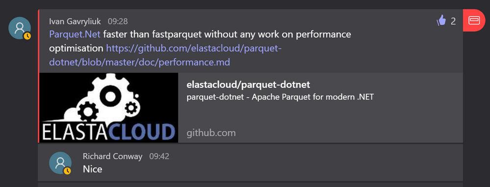 Faster parquet dotnet! | Elastacloud Channels