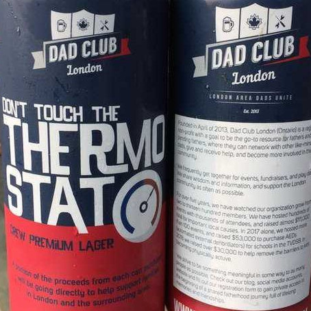 Dads serious about fundraising with dad-joke beer labels