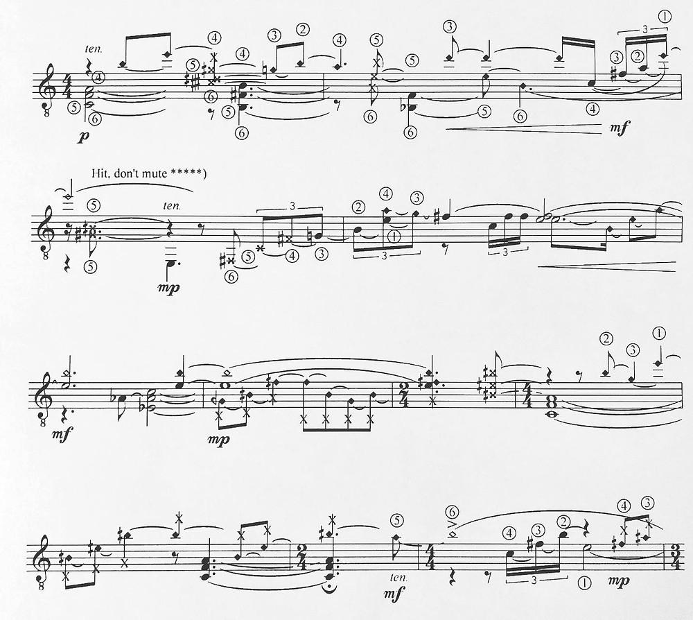 Markku Klami: Etudes for guitar: Nocturno (excerpt)