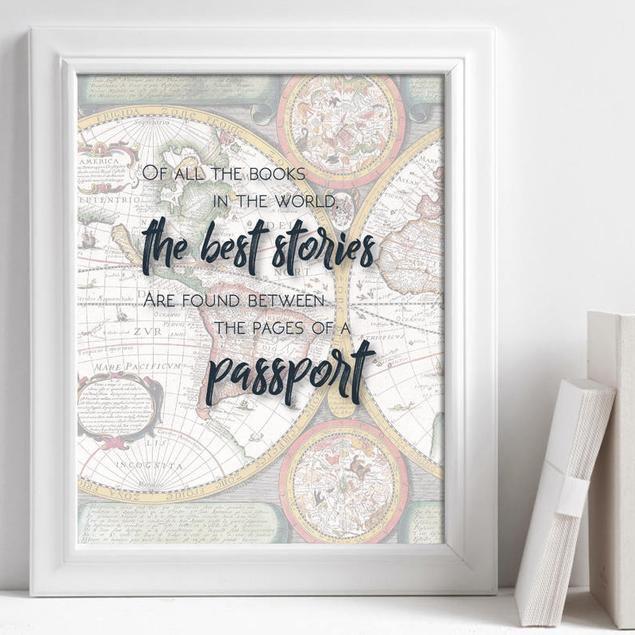 Wanderlust passport stories quote