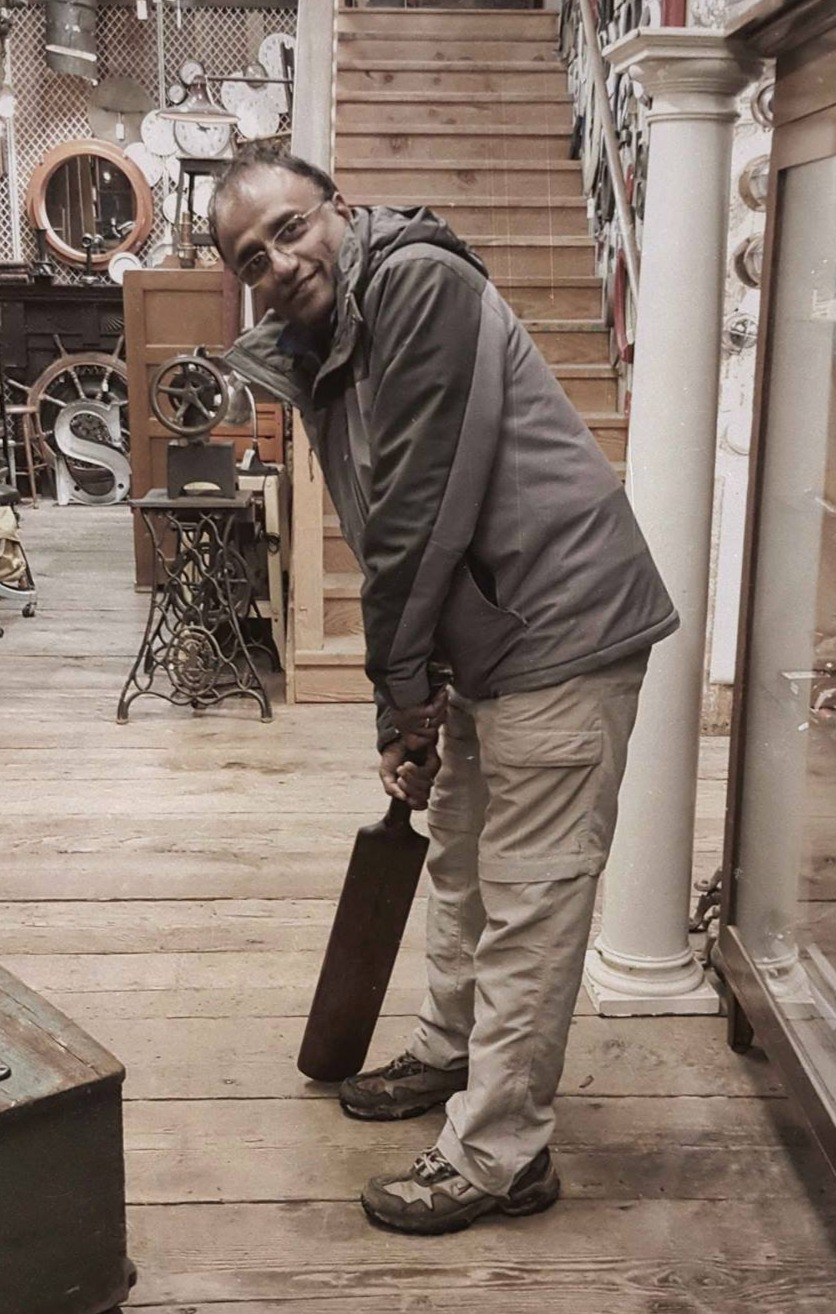 Sankar with a cricket bat | Finding Fertile Ground Podcast