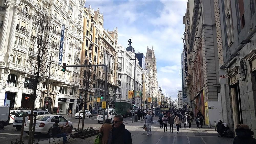 רחוב גראן ויה במדריד