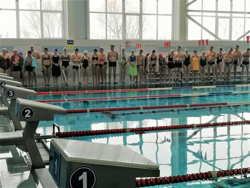 Результаты соревнований по плаванию.