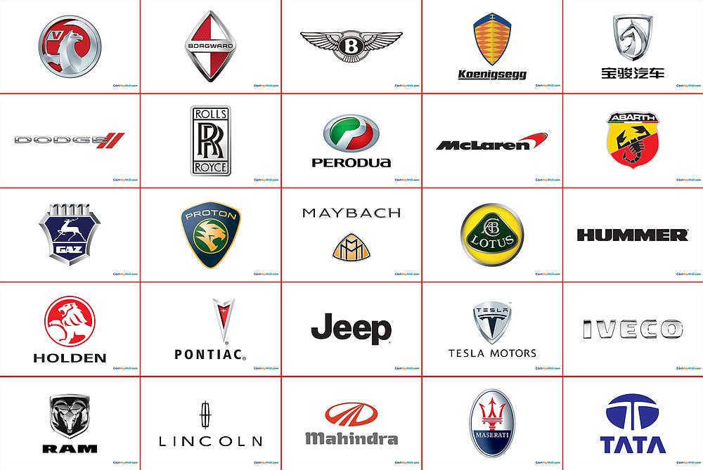 Tổng hợp logo xe hơi nổi tiếng file vector