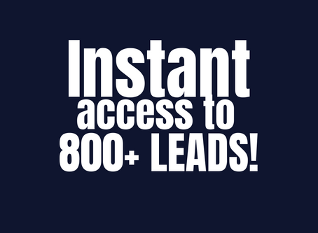 Instant access to targeted leads