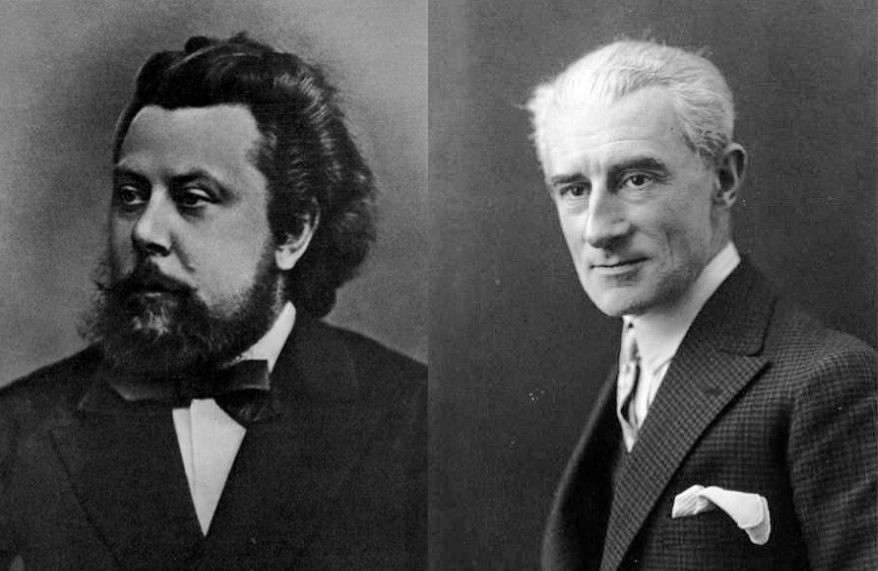 Composer Modest Mussorgsky and Composer Maurice Ravel