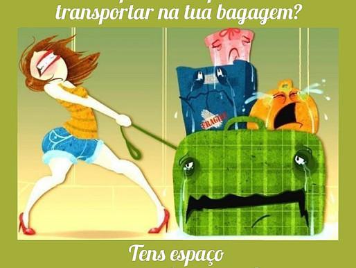 Tens espaço na tua bagagem para receber o NOVO?