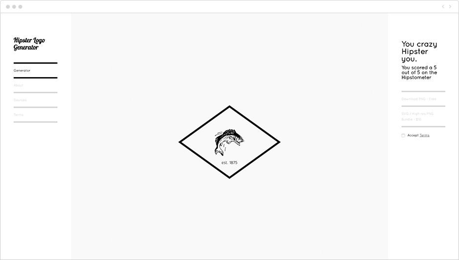 Logiciel de création de logo gratuit - Hipster Logo Generator