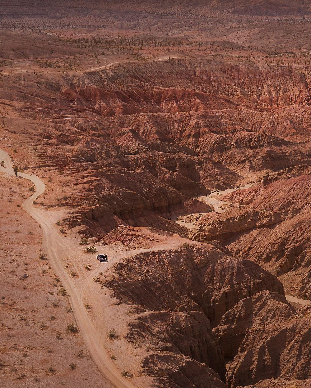 off roading in the desert slot canyons