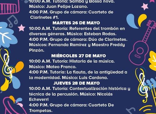 PROGRAMACIÓN BANDA MUNICIPAL DE MANIZALES - SEMANA DEL 25 AL 29 DE MAYO