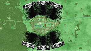 Trollocs attack from both sides in the Battle of the Two Rivers
