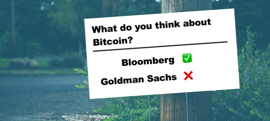Bloomberg sees Bitcoin at $20,000. Takes opposing view of Goldman Sachs